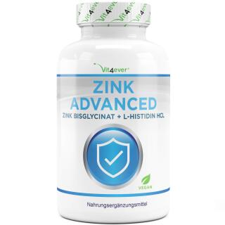 Zink Advanced - 400 Tabletten mit 25 mg - Zinkbisglycinat...
