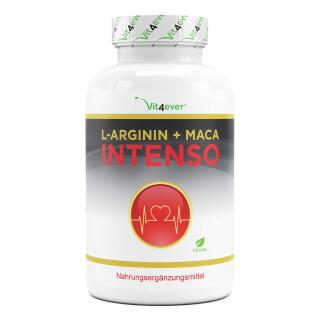 L-Arginin + Maca Intenso - 5800 mg Tagesportion - 240...
