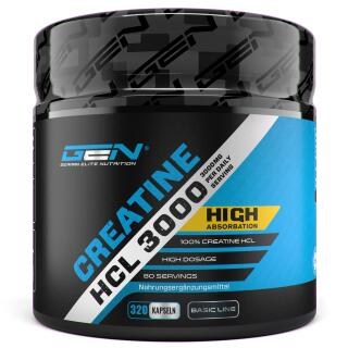 Creatine HCL 3000 - 320 Kapseln - Optimale Creatin...