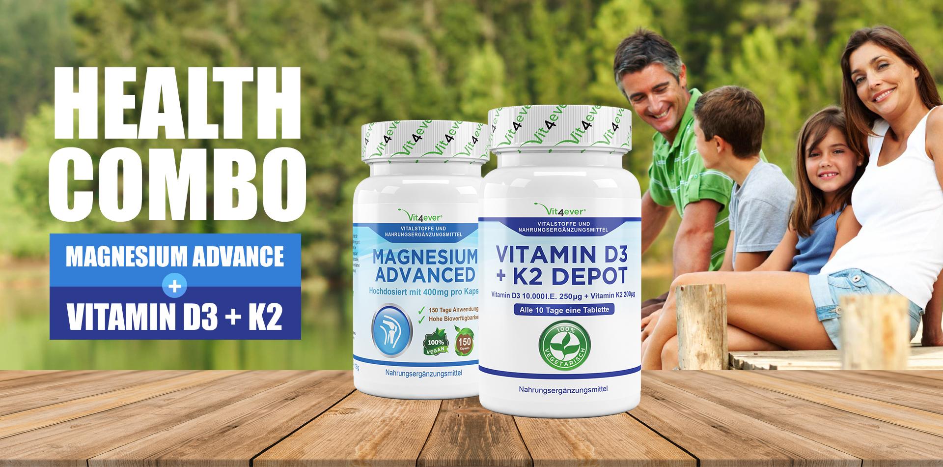 Warum sollte man Vitamin D3 + K2 mit Magnesium kombinieren?